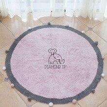 INS Wind Евро-американский круглый шар хлопковый матрас детский домашний дверной коврик реквизит для фотосъемки ковровый коврик