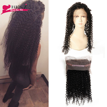 Pre Plucked 360 Lace Frontal Closure Malaysian Curly Hair 360 Lace Frontal with Baby Hair Natural Hairline 360 Lace Frontal