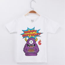 New Arrival T-Shirts For Boys Kids Birthday Clothes Cartoon Cute Monster Printed Boy Tops Tees Short Sleeve Cotton Child T Shirt 2019 new arrival kids t shirts for boys cotton fashion short sleeve funny t shirt siberian husky printed tees child brand tshirt