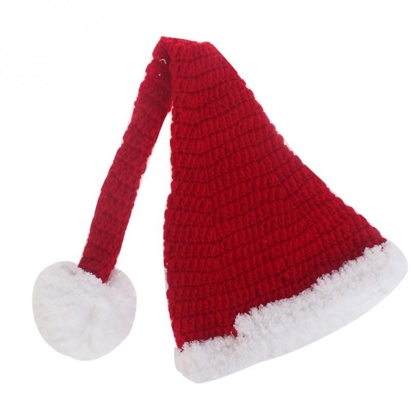 Newborn Baby Christmas Gife Santa Knitted Crochet Costume Cosplay Photo Photography Prop Infant Baby Christmas Hat Diaper Set