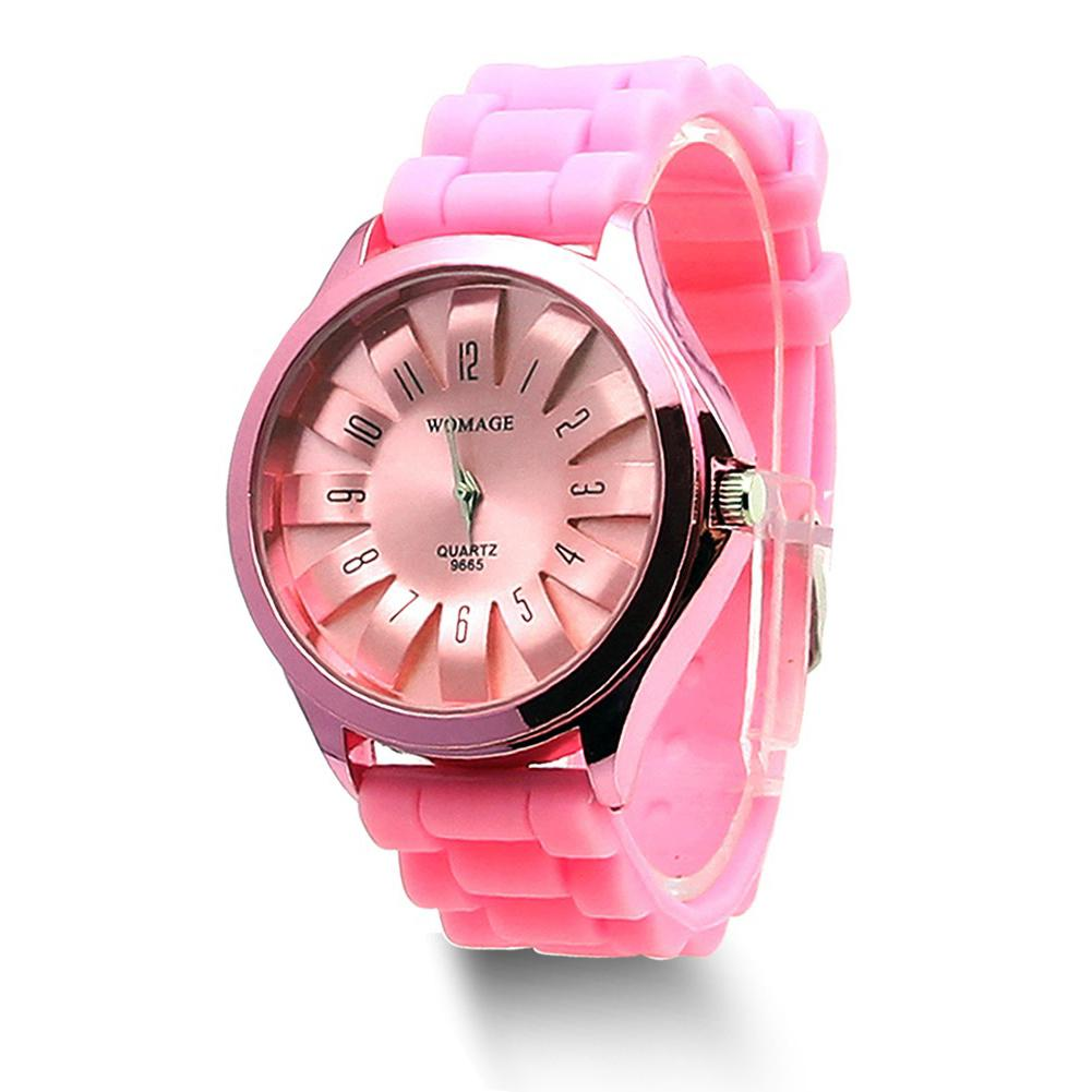 Casual Silicone Clock Jelly Band Flower Dial Sports Style Watch Men Women Quartz Wrist Watch