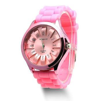 Casual Silicone Clock Jelly Band Flower Dial Sports Style Watch Men Women Quartz Wrist Watch cute snail style slap on silicone wrist watch orange 1 x sr626