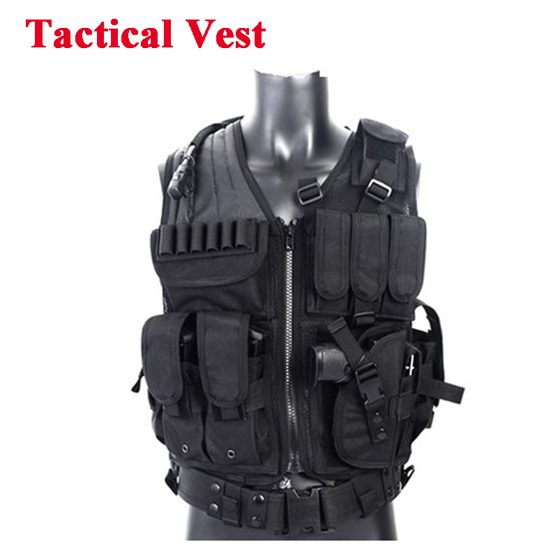 Tactical Vest Military Equipment Airsoft Hunting Vest Training Paintball Airsoft Combat Protective Vest For CS Wargame 4 Colors hot selling jiepolly military vest four in one tactical vest top quality nylon airsoft paintball combat assault protective vest