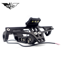 CNC Motorcycle License Plate Holder Moto Rear Tidy Bracket With Led Lamp For honda msx speed triple 1050 bmw r nine t