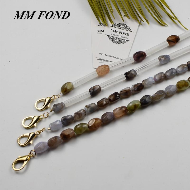 MM FOND natrual stone bead design girls fashion shoulder bag belt hot easy matching summer handbag decoration strap hot A341