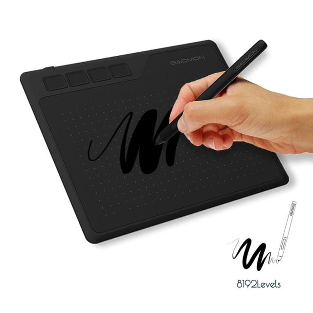 GAOMON S620 6.5x4 pollici 8192 livello supporto penna senza batteria Android windows Mac tavoletta grafica digitale per disegno e gioco OSU 2
