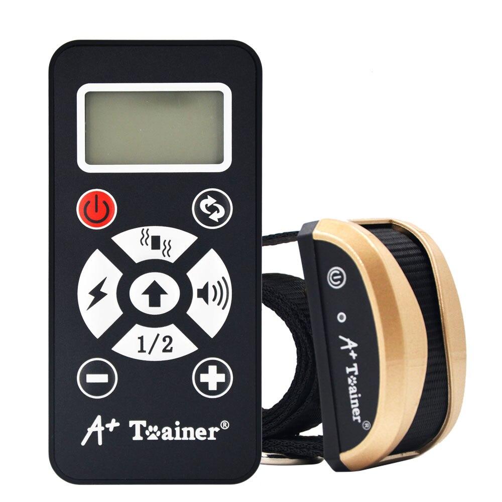New 2 in 1 dog training collars vibration electric shock sound Automatic anti bark collar IP7