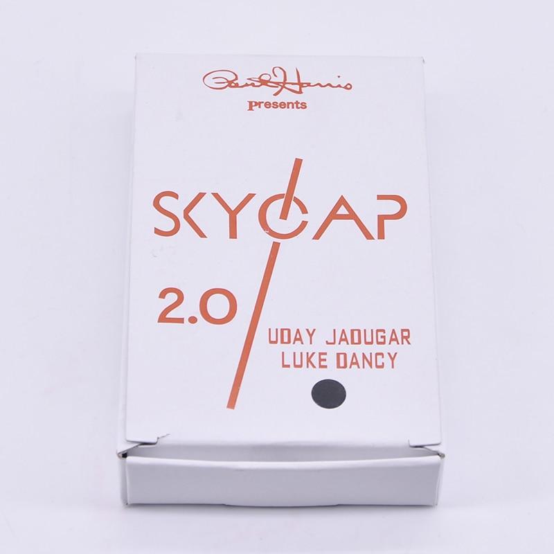 Skycap 2.0 (Noir Cap) Tours de Magie Bouchon de la Bouteille Pénétration Magie Close Up Illusion de Gadgets Accessoires Mentalisme Comédie