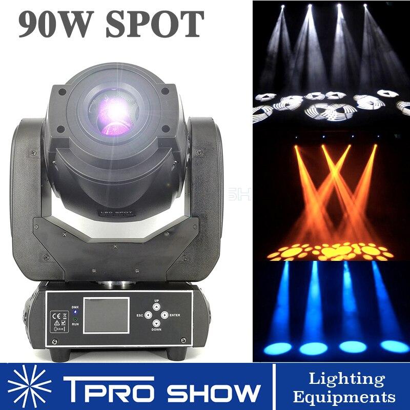 Avançado 90 W Ponto Moving Head LED Luz de Palco Grande Efeito de Rotação Gobo Prism para DJ Disco Club Teatro Lira versão Mini Opção