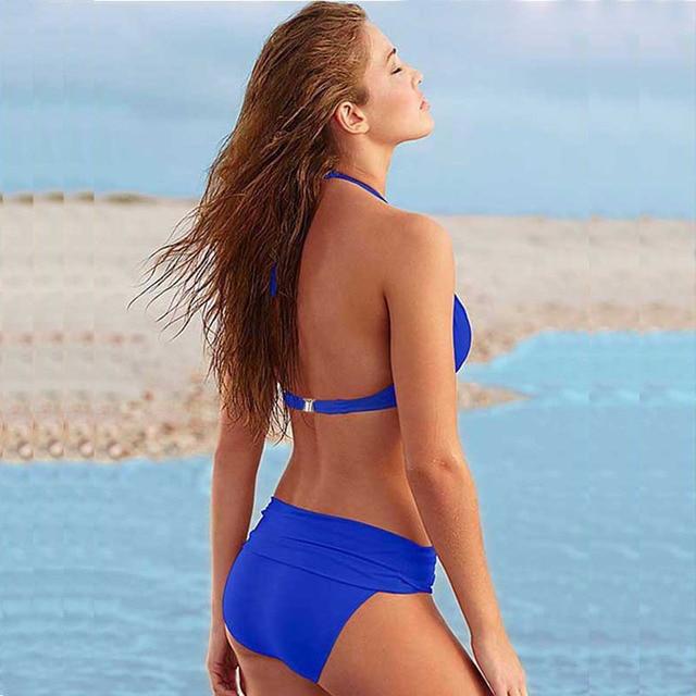 Women Swimsuit Push Up Bikini Set Beach Wear Halter Top