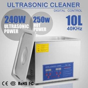 Новый мощный ультразвуковой очиститель из нержавеющей стали 10л л 490 Вт D Ультразвуковой очиститель
