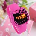 Top Quality 7 Colors Cute Hello Kitty Watch For Kids Women Fashion Casual Led Wristwatch Children Watch Digital Clock Relogio