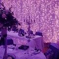 Большой из светодиодов водопад света полоса окно ну вечеринку свадебные украшения занавес цепи наружного освещения, Ac 110 - 220 В ч-25