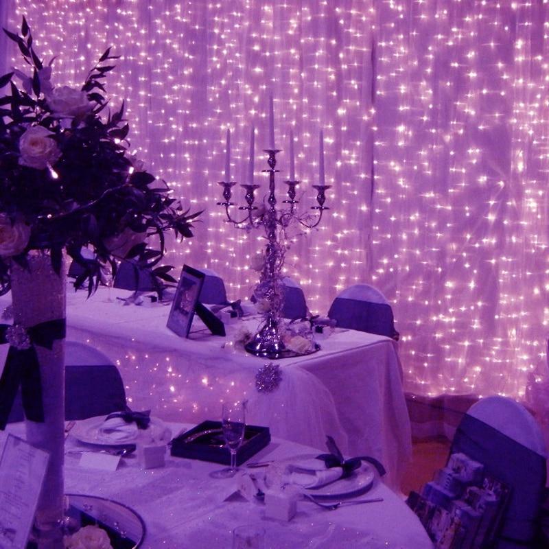 Grande Led cascade lumières lampe rayure fenêtre jardin extérieur fête fée lustre décoration rideau chaîne vacances noël