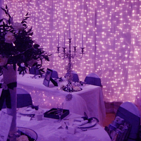 Large Led Waterfall Lights Lamp Stripe Window Garden Outdoor Party Fairy Luster Luces Decoration Curtain Chain Holiday Christmas