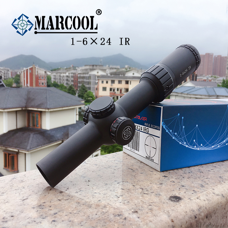Marcool  1-6×24 IG Riflescope Adjustable Red Dot Hunting Light Tactical Scope Reticle Optical Rifle Scope Fast Focus
