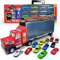 Контейнеровоз модель, игрушка автомобильный прицеп, Большой ящик для хранения грузовик с 12 сплава слайд автомобиля коллекция, бесплатная доставка