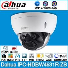 Dahua IPC HDBW4631R ZS 6MP IP 카메라 CCTV POE 동력 2.7 ~ 13.5mm 초점 줌 H.265 50M IR MSX SD 카드 슬롯 네트워크 카메라 IK10