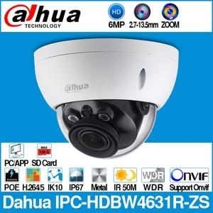 Image 1 - Dahua IPC HDBW4631R ZS 6MP IP מצלמה CCTV POE ממונע 2.7 ~ 13.5mm פוקוס זום H.265 50M IR MSX SD כרטיס חריץ רשת מצלמה IK10