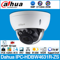 Dahua IPC HDBW4631R ZS 6MP IP Camera CCTV POE Motorized 2.7~13.5mm Focus Zoom H.265 50M IR MSX SD card slot Network Camera IK10