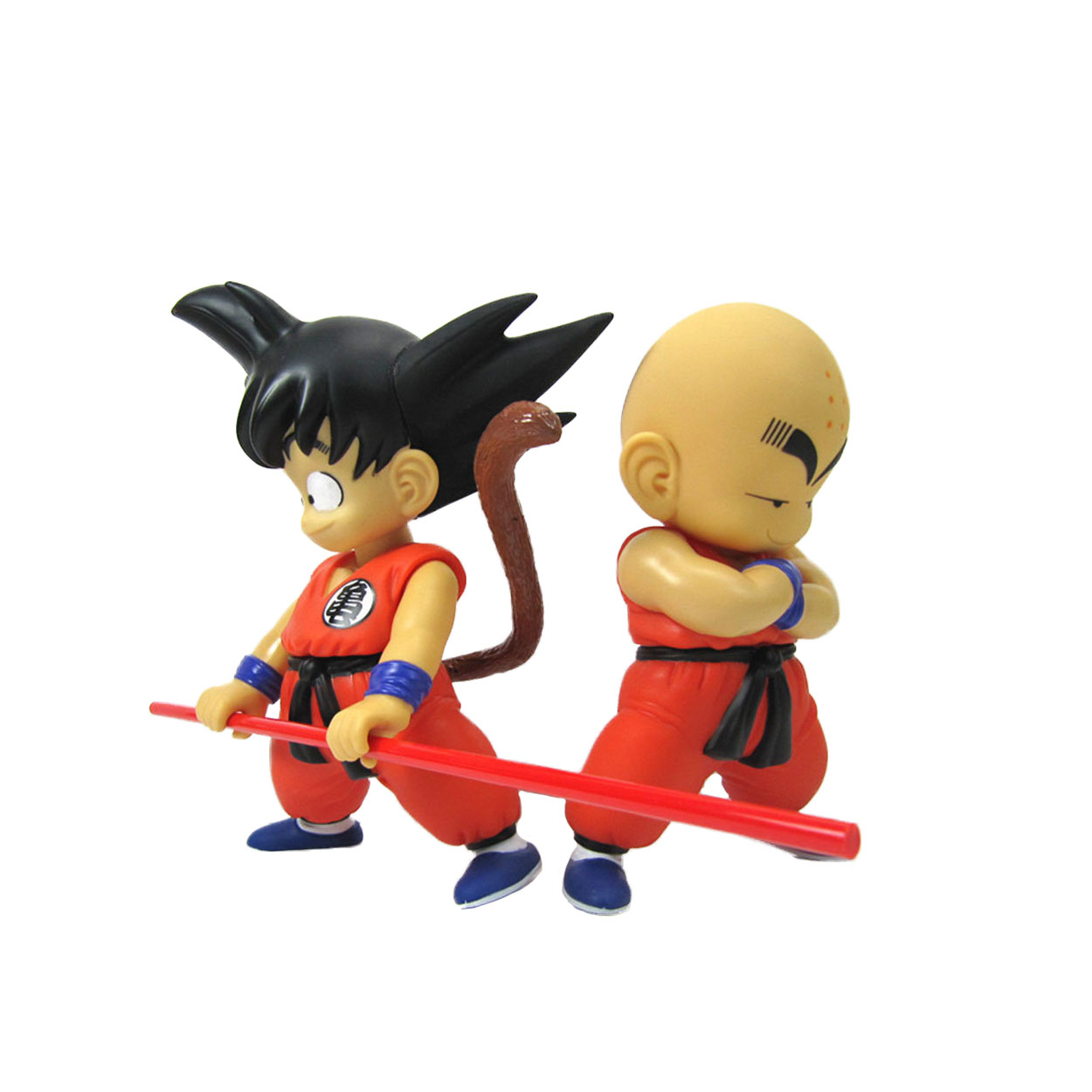 ФОТО Chanycore 21CM 2pcs/set Anime Dragon Ball Z Son GOKU Krillin Super Saiyan Action Figures crystal balls PVC Limit Boxed Gift Toy