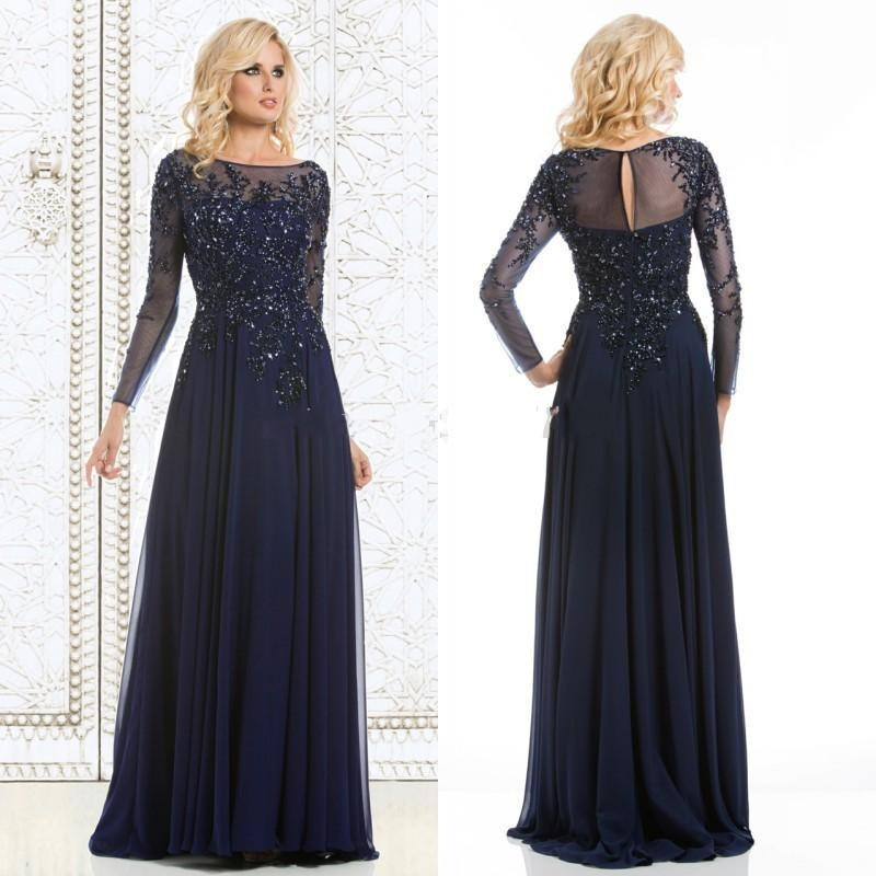 Popular Navy Blue Long Dress-Buy Cheap Navy Blue Long Dress lots ...