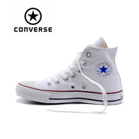 White Converse Sneakers Classic Unisex Canvas Skateboarding Shoes High Top Anti Slippery Women Men Sports Converse
