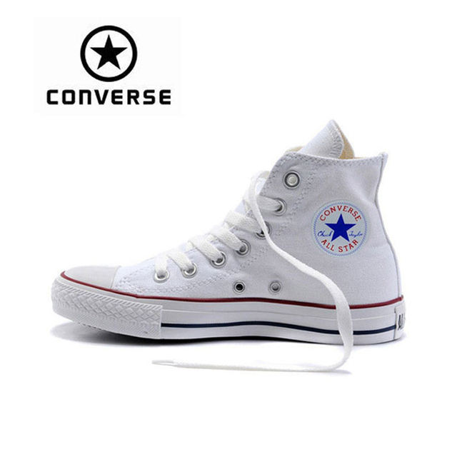 aec70856001f1c White Converse Sneakers Classic Unisex Canvas Skateboarding Shoes High-Top  Anti-Slippery Women Men