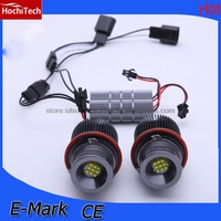 HochiTech 2pcs high quality 90W Angel Eyes LED Marker 7000K White for BMW X3 E83 E53 E63 E64 E60 E61 E39 E87 1 5 6 7 x series