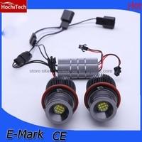 HochiTech 2pcs high quality 90W Angel Eyes LED Marker 7000K White for BMW X3 E83 E53 E63 E64 E60 E61 E39 E87 1 5 6 7 x series