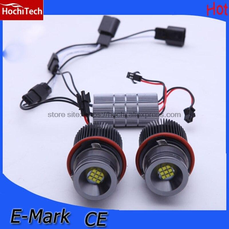 Hochitech из 2 предметов, Высокое качество 90 Вт Ангельские глазки светодио дный маркер 7000 К Белый для BMW X3 E83 E53 E63 E64 E60 E61 E39 E87 1 5 6 7 x серии