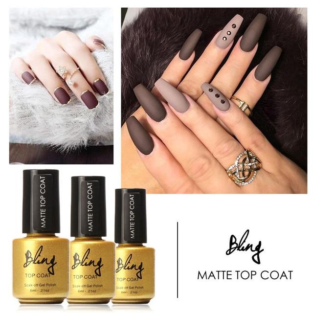 Focallure Beauty 6ml Matt Matte Top Coat Nail Gel Polish Nail Art ...