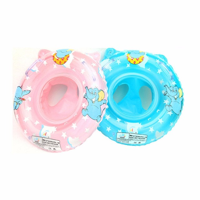 2 Colors New Born Infant Inflatable Swimming Neck Circle Baby Swim Ring Float Ring Safety Double Protection