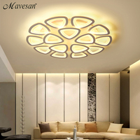 White Acrylic Modern LED Chandelier For Living Room Bedroom LED Lustres Large Ceiling Chandelier Lighting Fixtures AC85 260V