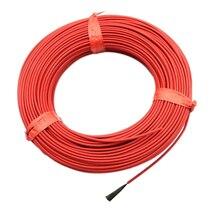 1 рулон 3,0 мм Ptfe провод из углеродного волокна Электрический пол горячей линии утолщение 20 м 12 к 33 Ом Инфракрасный нагревательный пол нагревательный кабель системы