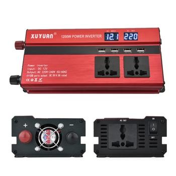 Inverter, 12v/24v to 220v2000w, with USB display converter