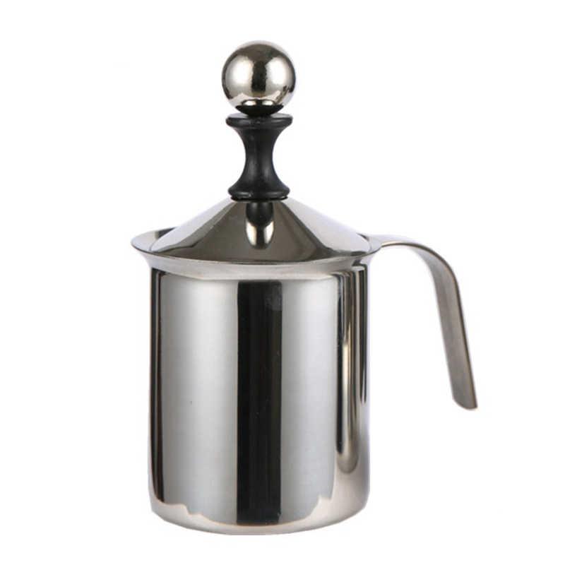 Spieniacz do mleka ze stali nierdzewnej pompa DIY deser pieczenie kawa mikser spieniacz do mleka cappuccino latte podwójna siatka kawy narzędzia kuchenne
