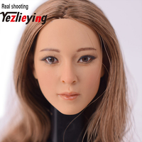 1/6 Scale Female Head Sculpt KUMIK 13 31 Asian Girl Head Head Model Accessories for 12 inch Action Figure Hot Toys Phicen.