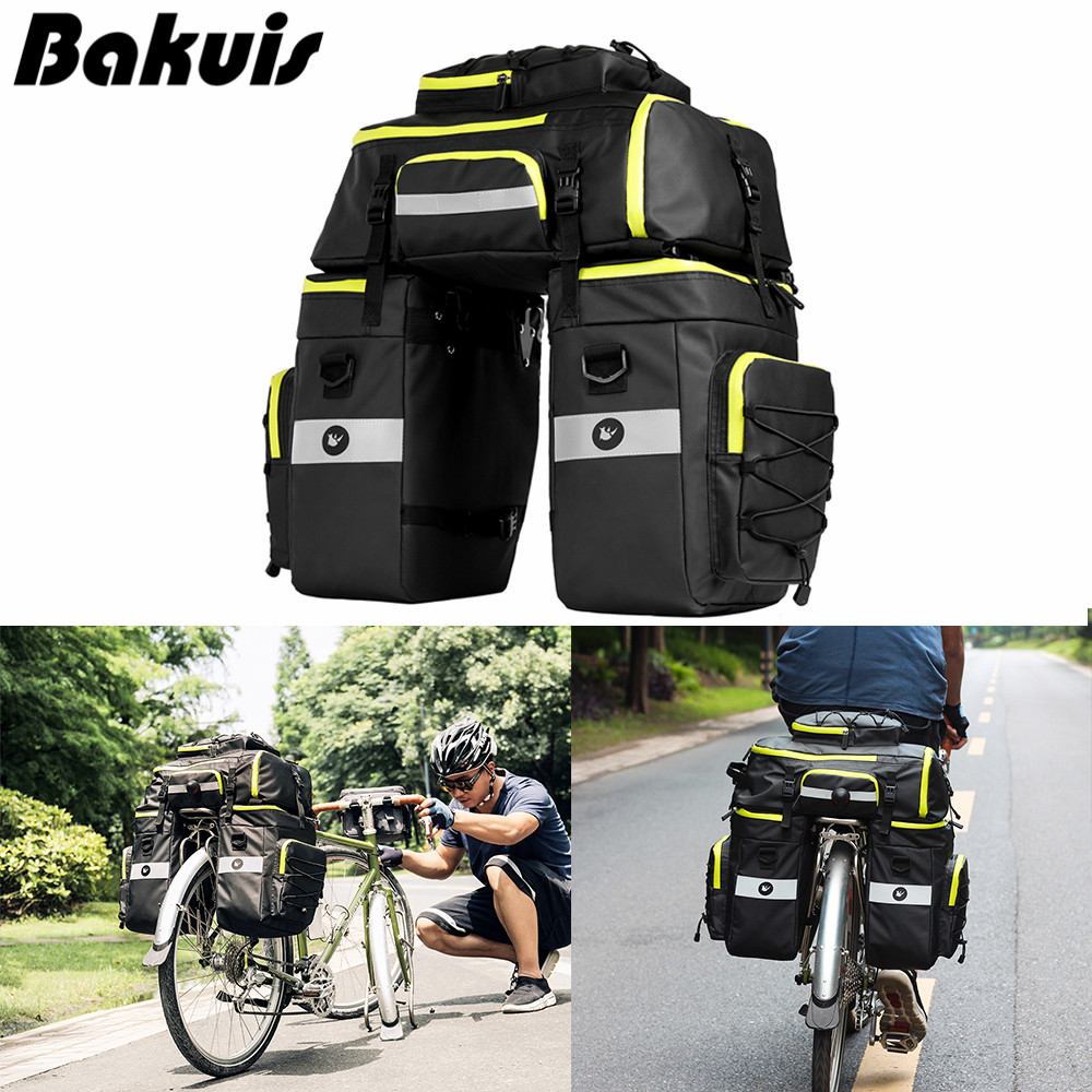 Bicycle Seat Rear Bag Waterproof Bike Pannier Rack Pack Shoulder Carrier Z9H8