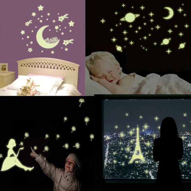 Kids Room Glow In The Dark Star Decal