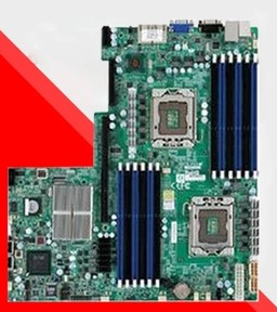X8DTU-F 1366-pin <font><b>X58</b></font> <font><b>dual</b></font>-server <font><b>motherboard</b></font> used 90%new image