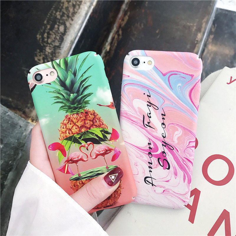 Phone Cases For iphone 6 Case Colorful Pineapple Flamingo Bird For Apple iPhone 7 8 6 6S Plus Case Hard PC Plastic Back Cover