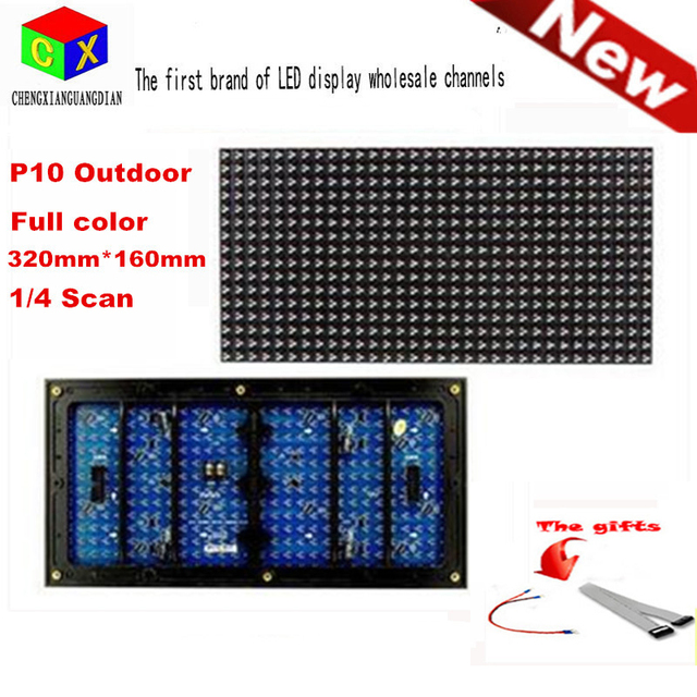 RGB Full color  Programmable LED Scrolling Sign Message Board Display  module 320*160mm 32*16 pixels   P10 DIP LED module