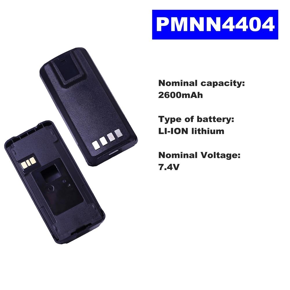 Batterie Radio LI-ION 7.4 V 2600 mAh PMNN4404 pour Motorola talkie-walkie CP1200/1300/1660/185 EP350 Radio bidirectionnelle