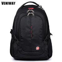 VENIWAY Swiss Brand Gear Man Waterproof Laptop Backpacks 15 inches Large Capacity Quality Backpack Mochila Daily Bags for Men