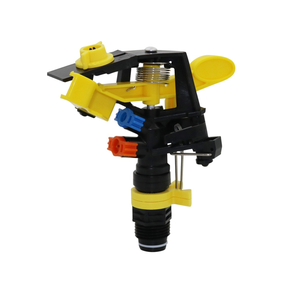 """1 Pc Double outlet Rocker nozzle 360 degrees rotary jet nozzle Agricultural garden Irrigation Sprinklers with 1/2"""" male thread"""