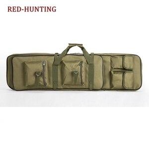 Image 2 - Yeni 120cm tüfek tabanca kılıfı taktik silah çantası yumuşak yastıklı karabina durumda olta çantası sırt çantası tabanca Shotgun Airsoft durumda depolama