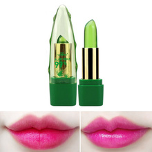 Natural Aloe Gel Jelly Lipstick Temperature Changed Waterproof Nourishing Lip Balm Long Lasting Moisturizer Lips Makeup