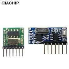 QIACHIP 433 mhz אלחוטי רחב מתח קידוד משדר + פענוח מקלט 4 ערוץ פלט מודול עבור 433 Mhz שלט רחוק
