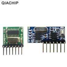 QIACHIP 433 mhz Không Dây Điện Áp Rộng Mã Hóa Transmitter + Giải Mã Receiver 4 Kênh Đầu Ra Module Cho 433 Mhz Điều Khiển Từ Xa